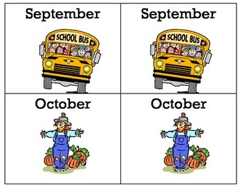 Calendar Concentration Game