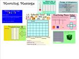 Calendar Corner - Morning Routine Smartboard Lesson