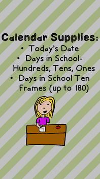 Calendar Corner Supplies