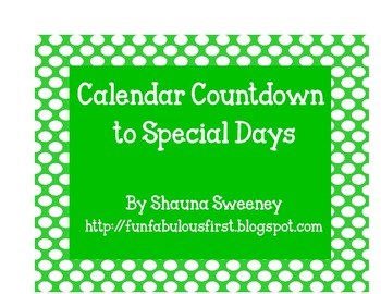 Calendar Countdown to Special Days