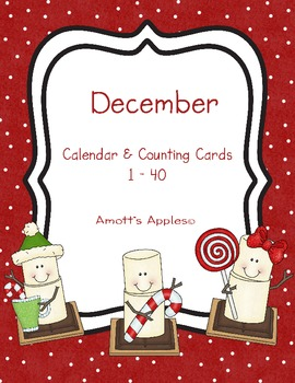 Calendar & Counting Cards - December/S'mores