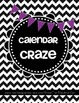 Calendar Craze 100% BLACKLINE templates of months with act