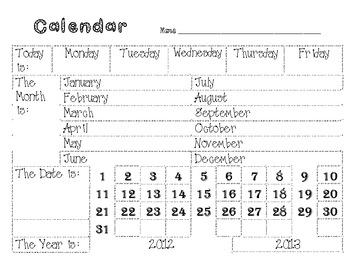 Calendar Daily Journal