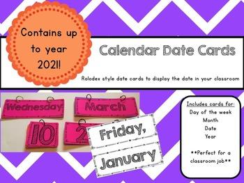 Calendar Date Cards
