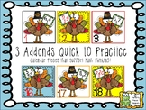 Calendar Date Cards - 3 Addends Quick 10 Practice