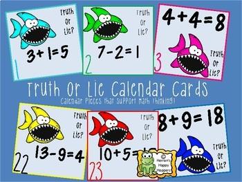 Calendar Date Cards - Bundle - Tally Marks, Truth or Lie, and Argumentation