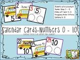 Calendar Date Cards Bundle-Ten Frames, Subitizing, Recognizing 1-5, Number Bonds