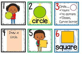 Calendar Date Cards - Recognizing 2D Shapes and their Attributes