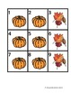 Calendar Date Pieces for October and November
