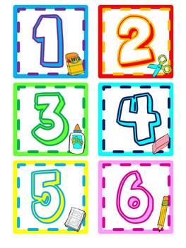Calendar Dates - Back to School