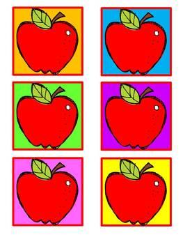 Calendar Dates - Colorful Apples