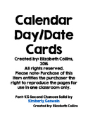 Calendar Day/Date Cards