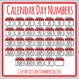 Calendar Day Numbers - Days of the Month Planner Number Templates Clip Art