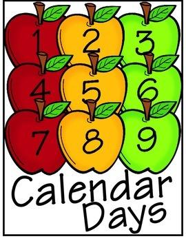 Calendar Days ~ Apple Numbers