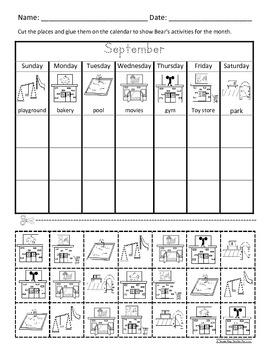 calendar days bear about town eng spanish activities 3sets c scope com core. Black Bedroom Furniture Sets. Home Design Ideas