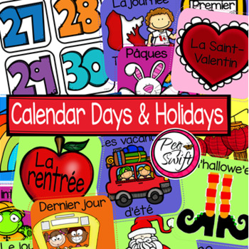 French Calendar Set & Holidays