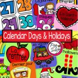 French Calendar Set & Holidays