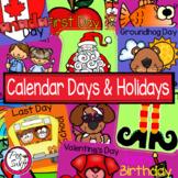 Calendar Days & Holidays Calendar Set