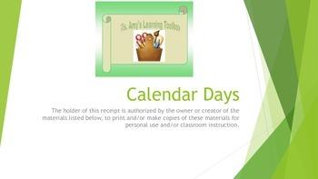 Calendar Days October