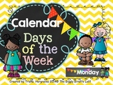 Calendar: Days of the Week Titles