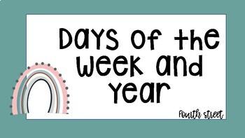 Calendar Days of the Week & Year