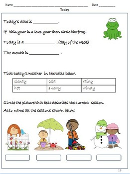 Calendar Math -Days of the week, Months  etc. - Worksheets and Activities