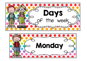 Calendar - Days of the week - Polka dots multi