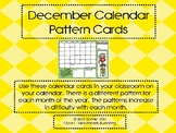 Calendar December Pattern Cards - ABC Pattern