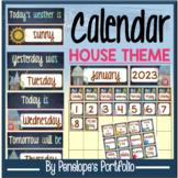 Monthly Calendar 2018-2019 - House Chalkboard Theme