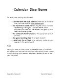 Calendar Dice Game