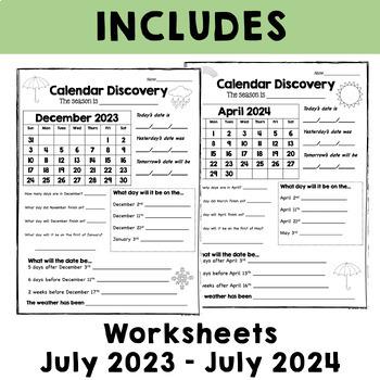 Calendar Worksheets by Alison Hislop   Teachers Pay Teachers