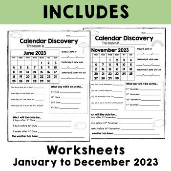 "Calendar Discovery - A Monthly Calendar Task ""2017 Calendar Year"""