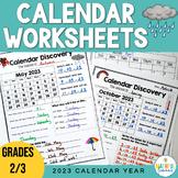 Calendar Worksheets - January to December