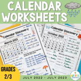 Calendar Worksheets