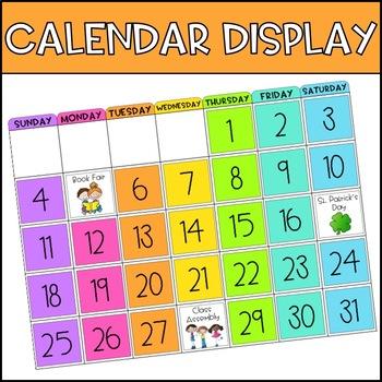 Calendar Display