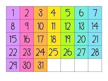 Calendar Display by Miss Gorton's Class | Teachers Pay ...