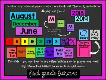 Calendar Display Set - Editable!