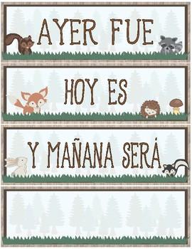 Calendar Display ~ Spanish