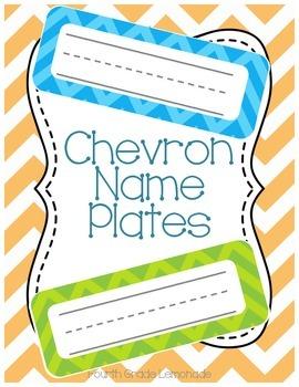 Chevron Name Plates
