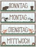 Calendar Display ~ German