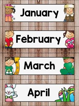 Calendar Display in a Camping Classroom Decor Theme