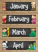 Calendar Display in a Chalkboard and Burlap Classroom Decor Theme