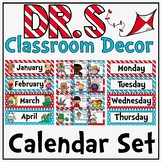 Calendar Display in a Dr. S Inspired Decor Theme