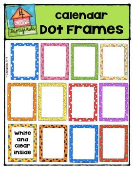 Calendar Dot Frames {P4 Clips Trioriginals Digital Clip Art}