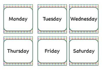 Calendar: Easter Theme  (Pocket Chart)