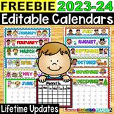 2018-2019 Editable Calendars - Lifetime Updates PDF & POWER POINT VERSIONS