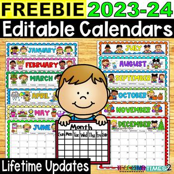 2016-2017 Editable Calendars