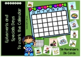 Calendar: Ephemeris cards and special days (ENGLISH)