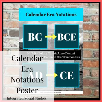 Calendar Era Notations Poster