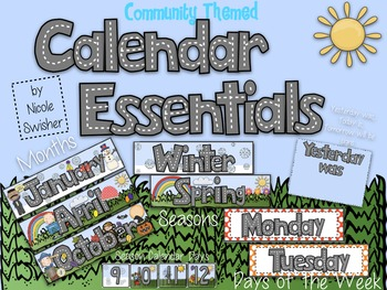 Calendar Essentials- Community Themed (Months, Seasons, Da